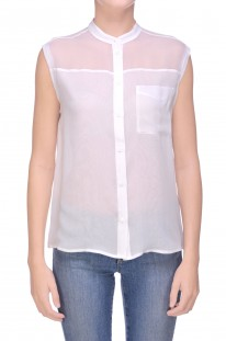 Top-blusa in chiffon di seta Equipment