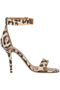 Animal print leather sandals Givenchy