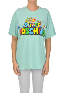 Super Mario Bros printed t-shirt Moschino Couture