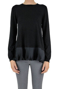 Pleated hem pullover Moncler
