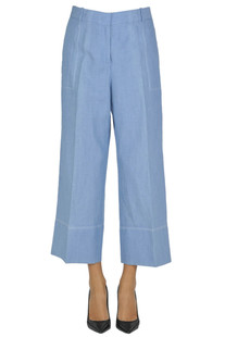 Cotton and linen trousers Ermanno Scervino