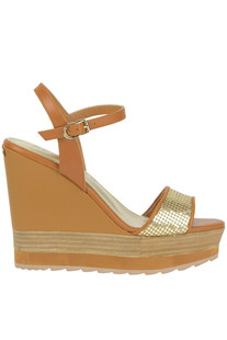 Fancy leather wedge sandals Apepazza