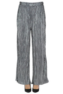 Pleated lame cloth trousers So Allure