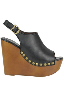 Snick leather wedge clogs Jeffrey Campbell