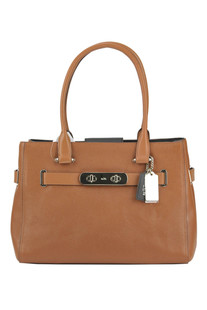 Textured leather bag Coach