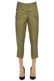 Cargo style cropped trousers Atos Lombardini
