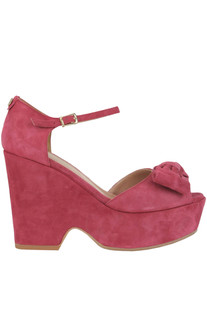 Suede wedge sandals Twin-set  Simona Barbieri