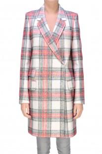 Cappotto tartan in lana e cachemire Stella McCartney