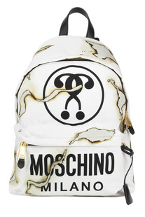 Printed techno fabric backpack Moschino Couture