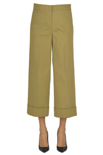 Cropped cotton trousers L'Autre Chose