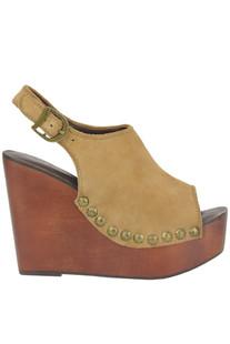 Snick suede wedge clogs Jeffrey Campbell