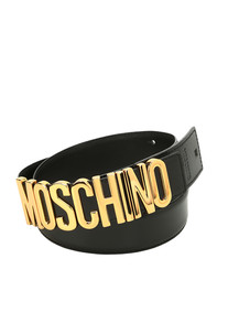 Maxi designer logo leather belt Moschino Couture