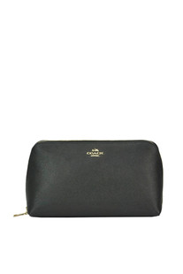 Leather cosmetic case Coach