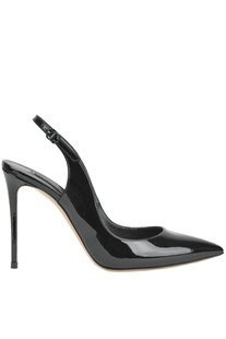 Patent leather slingback pumps Casadei
