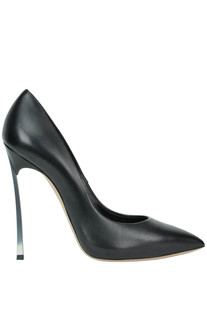 Metallic stiletto heel pumps Casadei