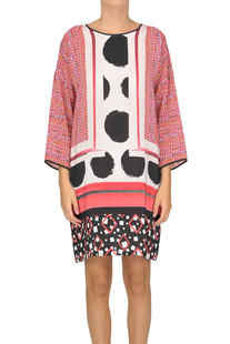 Printed silk tunic dress Space Style Concept