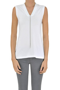 Embellished cotton tank-top Brunello Cucinelli