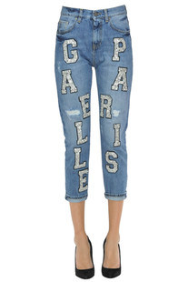 Embellished cropped jeans Gaelle Paris