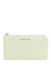 Grainy leather wallet Orciani