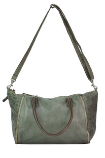 Cut-out old looking effect leather bag Caterina Lucchi