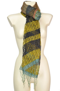 Cotton and silk knit scarf Dries Van Noten
