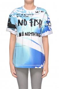 Felpa stampa No Fish Kenzo