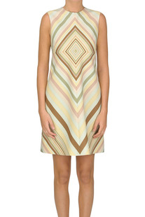 Printed silk and wool blend dress Valentino