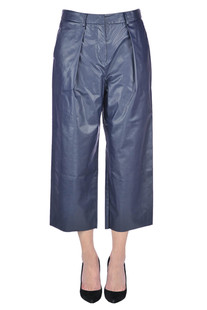 Eco-leather culotte trousers Space Style Concept