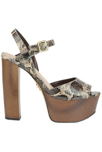 Reptile print leather sandals Guess