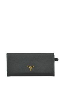 Saffiano leather pattina wallet Prada
