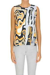 Printed linen top MSGM