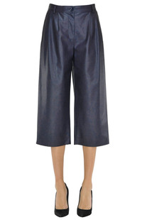 Eco-leather cropped trousers Patrizia Pepe
