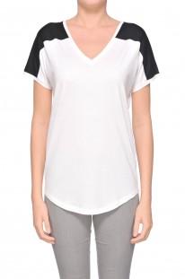 T-shirt in cotone bicolore Ralph Lauren Black Label