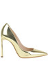 Metallic effect leather pumps Sebastian