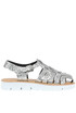 Glittered leather sandals Bottega Re dei Matti