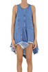 Denim mini dress top PHILOSOPHY di Lorenzo Serafini