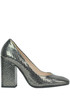 Metallic effect leather pumps Chiarini Bologna