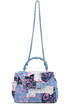 Printed patchwork denim doctor bag Mia Bag
