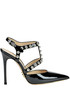 Studded patent-leather slingback pumps Luciano Padovan