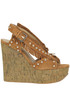 Blossom cork wedge sandals Ash
