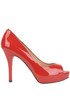 Patent-leather open-toe pumps Guess