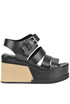Leather wedge sandals Strategia