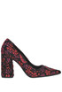 Flower print velvet pumps Strategia