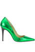 Metallic effect leather pumps Francesca Conoci