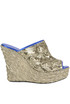 Sequined wedge sabot Kristina Ti