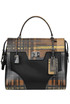 Printed leather and nylon hand bag Prada