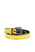 Reptile-print leather belt Dries Van Noten