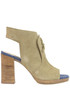 Open-toe suede ankle boots Manas