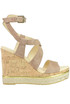 Suede wedge sandals Hogan