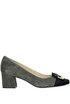 Bicoloured suede pumps Bailarinas